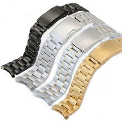 Curved Stainless Steel Bracelet Replacement Watch Band Strap 16 18 20 22 24mm