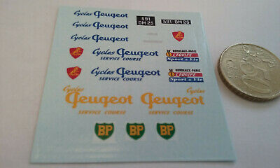 decals decalcomanie deco peugeot 403 bordeaux paris deco velo peugeot  1/43
