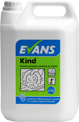 Evans 5ltr Commercial Washing Up Liquid General Purpose Detergent Kind