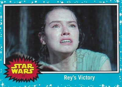 2017 Topps Star Wars le Last Jedi Cartes à Collectionner, #89 Reys Victory
