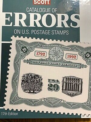 Scott 2019 Catalogue Of Errors On U.s. Postage Stamps **we Help Or Veterans**