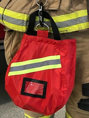 SCBA Mask Bag, 2018 Deluxe, Red, Firefighter, ISI, EMT, Fire,Respirator