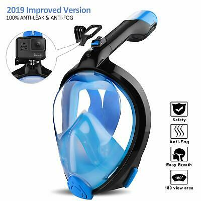 ORSEN Newest Snorkel Mask Foldable 180 Panoramic View Free Breathing Full Fac...