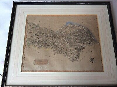 Old maps North Riding of Yorkshire and West Riding of Yorkshire framed