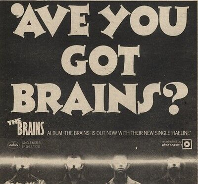 23/8/80Pgn04  Advert: 'the Brains' New Album & Single 'raeline' Out Now 5x5