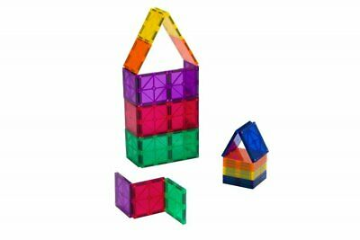 36-P Playmags Magnetic Tile Building Set EXCLUSIVE Educational Clickins