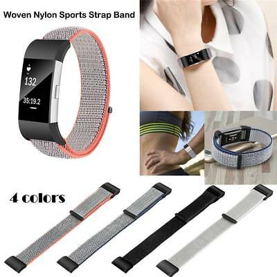 Woven Nylon Loop Sport Band Strap Wristband For Fitbit Charge 2 Smart Watch