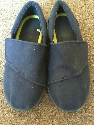 Girls Boys Slip On Pumps In Navy Blue From Next Size 11