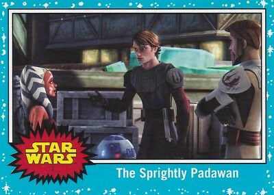2017 Topps Star Wars le Last Jedi Cartes à Collectionner, #7 Sprightly Padawan