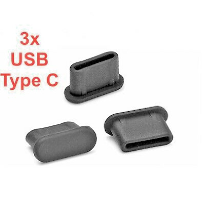 3x USB TYPE-C ANTI-DUST STOPPER PLUG SILICONE for YI 4K Plus Action Camera