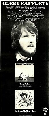 4/5/74MM17 GERRY RAFFERT/GERRY RAFERTY Album & Single  15X7 ADVERT