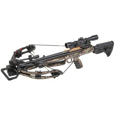 Crosman AXCMW185CK Mercenary Whisper 390 Crossbow Hunting + Scope/Quiver Bow Kit