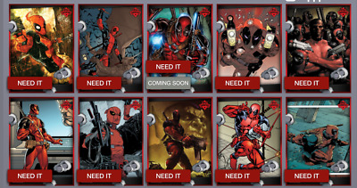 Topps Marvel Collect Card Trader Showcase Deadpool Mixed lot of 5