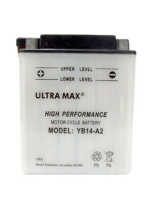 Genuine UltraMax YB14-A2, 12V 14AH 160 CCA Motorbike Motorcycle Battery