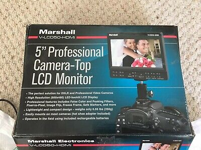 """Marshall Electronics 5"""" On-Camera Field Monitor V-LCD50-HDMI f/DSLR used once"""