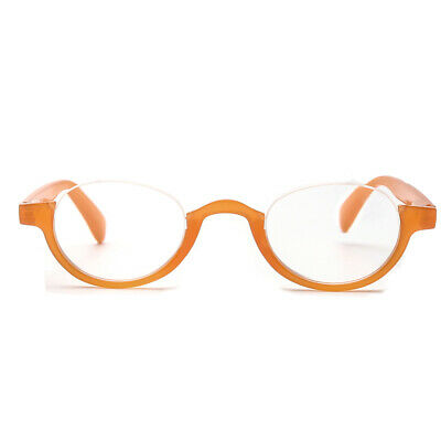 New Unisex Half Moon Spring Hinges Reading Glasses Readers 1.0 2.0 3.0 1.5 2.5