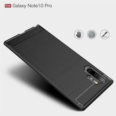 For Samsung Note 10 Note 10 Plus Carbon Fiber Hybrid Thin Soft Case Shell Cover