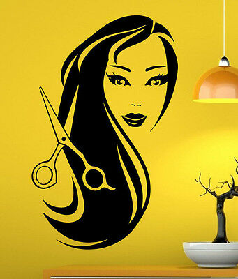 Hair Salon Wall Decal Vinyl Sticker Barber Shop Interior Mural Art Decor (8hsl)