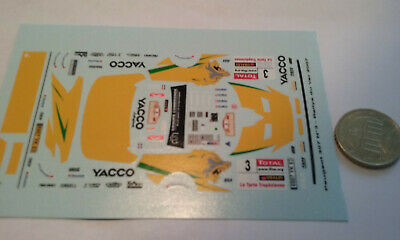 decals decalcomanie deco pour peugeot 307 n3 rally du var 2007   1/43