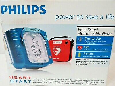 Factory Sealed Philips HeartStart Home AED Defibrillator w/ Slim Carry Case