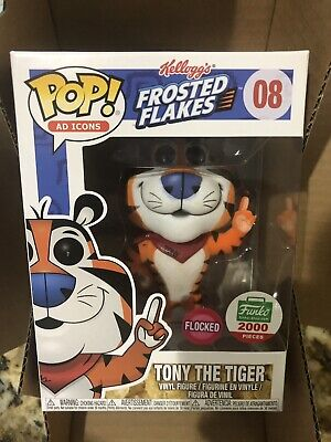 Funko Pop Exclusive Ad Icons Tony the Tiger FLOCKED #08 LE 2000 Frosted Flakes