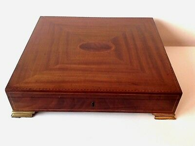 Late 19th/Early 20th Century Edwardian Sheraton Revival Writing Slope