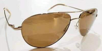 """Oliver Peoples /""""Moffitt/"""" OYSP Ivory Marble Gold Sunglasses"""