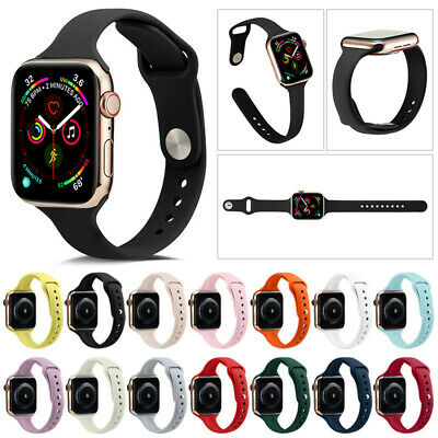 38/42/40/44mm Silicone Bracelet Band Strap For Apple Watch iWatch Sports 1/3/2/4