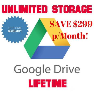 Unlimited Google Drive Cloud Storage Account [Lifetime] VERY FAST DELIVERY !!!