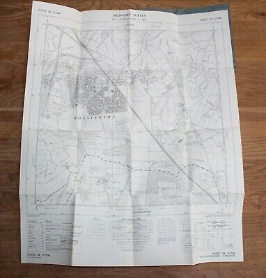 Ordnance Survey Map SK 69 NW South Yorkshire 6 in to 1 mile Doncaster Rossington