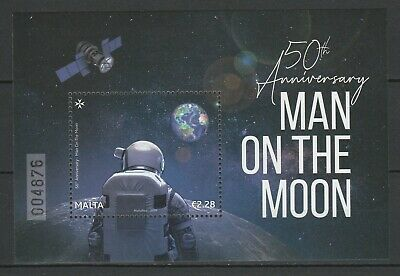 Malta 2019 Space, Apollo 11 50th Anniversary Moon Landing MNH Block