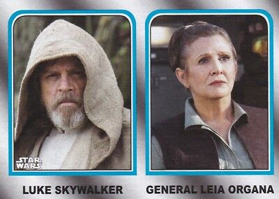 2017 Topps Star Wars le Last Jedi Cartes à Collectionner,Famille Legacy #2 Luke
