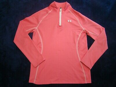 Under Armour Girls Cold Gear Loose 1/4 Zip Pink JacketYmd