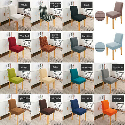 Elastic Dining Chair Cover Slipcovers Kitchen Chair Protective Hotel Banquet New