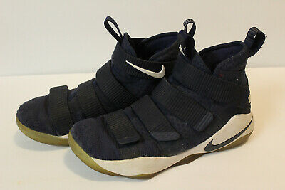 new product e65d2 af6b2 NIKE LEBRON JAMES SOLDIER XI SFG Shoes Navy Men's Size 8