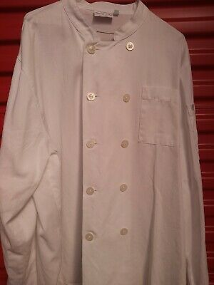 CHEFWORKS CHEFS KITCHEN JACKET Coat WHITE UNIFORM X-LARGE XL EXCELLENT!