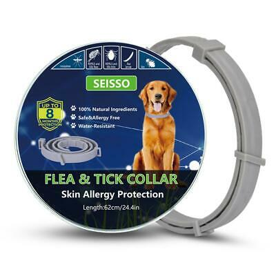 SEISSO Flea And Tick Control Collar for Medium Large Dog 1 Year Protection new