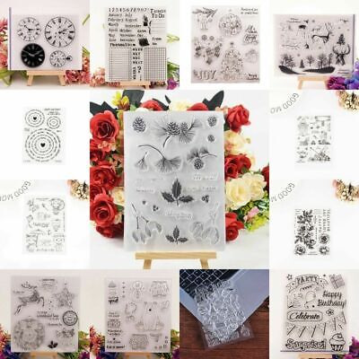 Silicone Safe Stamp Transparent Rubber Stamps DIY Scrapbook SALE Christmas J6X5