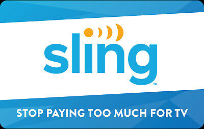 Sling TV Gift Card - $25 $50 or $100 - Email delivery