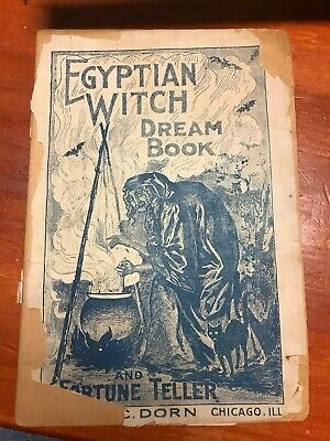 Egyptian Witch Dream Book Vintage Halloween Early 1900's Spells, Charms, Magic *