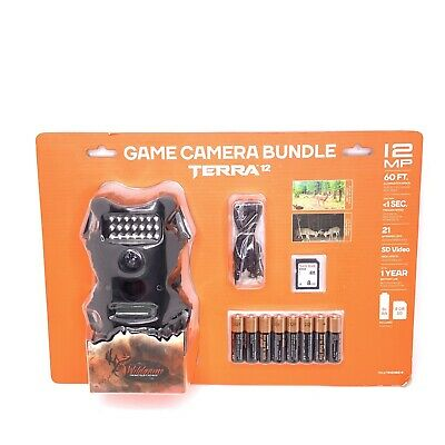 Wildgame Innovations Terra 12 Game Camera Bundle 12MP 480p Infrared TR12i1W2-8