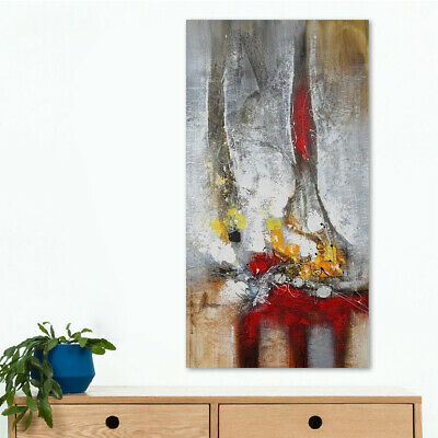 Handmade Modern Abstract Wall Art Oil Painting Stretched On Canvas (Framed)