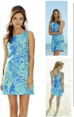 178 Lilly Pulitzer Cathy Sea Blue Lillys Lagoon Print