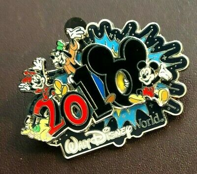 walt disney world trading pin dated 2010 vintage souvenir 3d classic characters