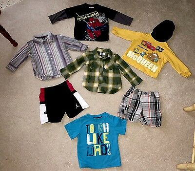 Boys Toddler Clothes/Outfits/Tops/Pants/Shorts Lot x16 18-24M Nice Name Brands