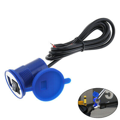 12V Charger Motorcycle Motorbike Scooter USB Power Adapter Switch Socket Phone