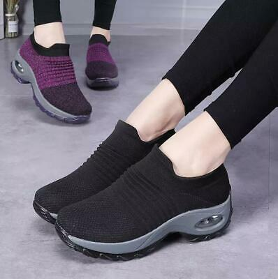 2019 Women's Fashion Casual Shoes Style Knit Outdoor Sports Breathable Sneakers
