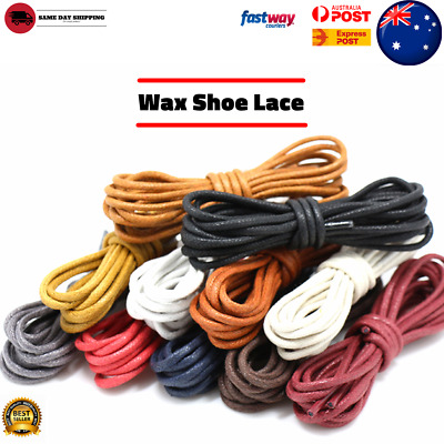 Premium Cotton Wax Shoelaces Thin Round Dress Waxed Laces 2.5mm For Dress Shoes