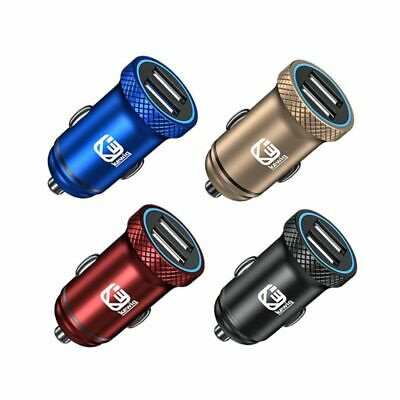 Dual USB Car charger 5V 2.4A Universal Smart Car-Charger Power Adapter Outlet