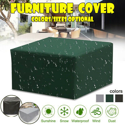 Garden Patio Furniture Seat Lounger Covers Waterproof Rattan Cube Table Outdoor